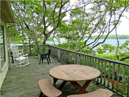 Falmouth, Waquoit Cape Cod vacation rental - Dine, read, relax on the deck with panoramic views