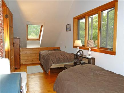 Falmouth, Waquoit Cape Cod vacation rental - Upstairs twin bedroom with skylight