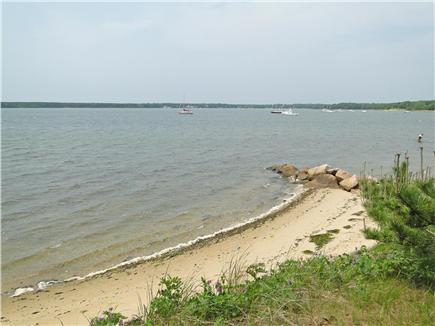 Falmouth, Waquoit Cape Cod vacation rental - Low tide at Waquoit Bay private swimming beach