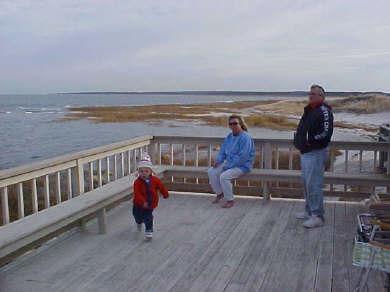 Barnstable, Cummaquid Cape Cod vacation rental - the deck.............
