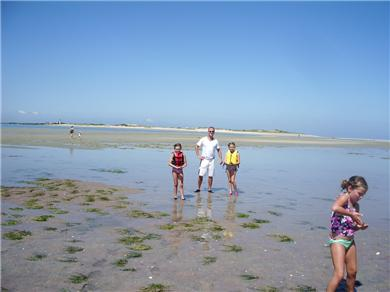 Barnstable, Cummaquid Cape Cod vacation rental - Walking the flats at low tide