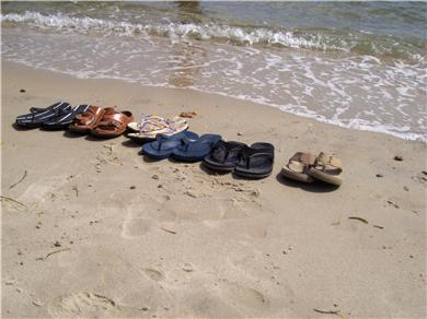 South Yarmouth Cape Cod vacation rental - Quiet Day on the Beach, Just steps away from the house
