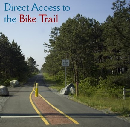 Harwich Cape Cod vacation rental - Cape Cod bike trail (CCRT) across the street