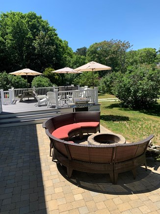 Harwich Cape Cod vacation rental - Patio & fire-pit.  Cocktails and S'mores anyone?!