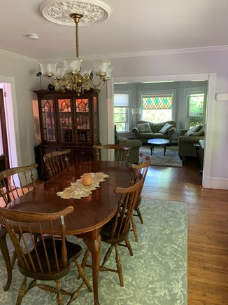 Harwich Cape Cod vacation rental - Sunny bright dining area, facing living room.