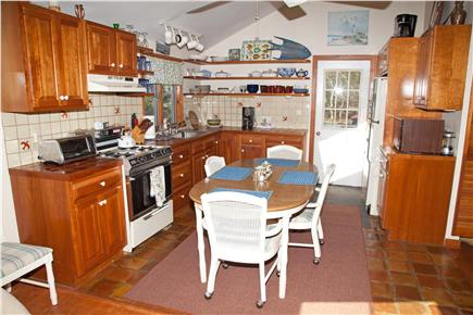 East Orleans Cape Cod vacation rental - Modern kitchen with cherry cabinets. Seats 6