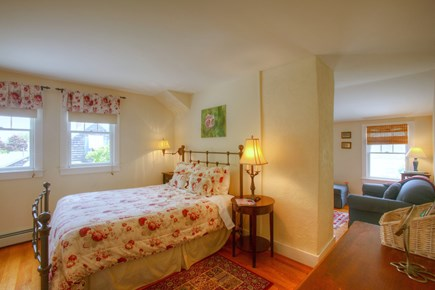 Hyannis Cape Cod vacation rental - Master BR #2-Queen bed w/ensuite crib, twin sofabed, & TV/DVD.