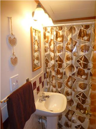 North Eastham - Bayside Cape Cod vacation rental - Full Bathroom / additional half bath off kitchen