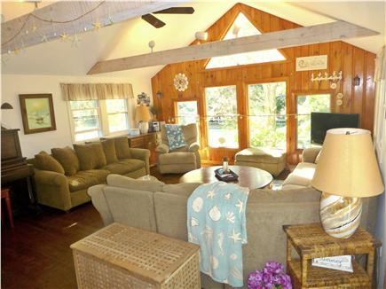 North Eastham - Bayside Cape Cod vacation rental - A large and sunny Living Room welcomes you in