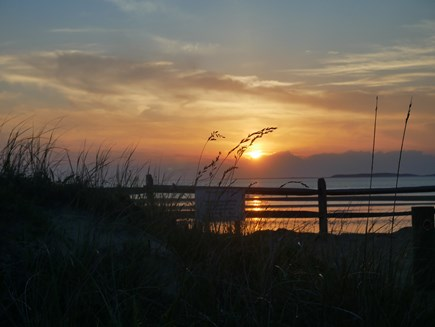 North Eastham - Bayside Cape Cod vacation rental - Another stunning sunset over Cape Cod Bay