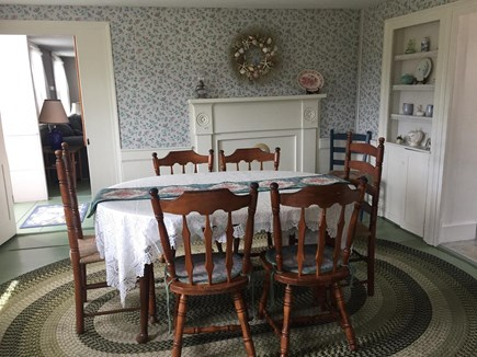 West Dennis Cape Cod vacation rental - Classic dining room adjacent to kitchen and porch.
