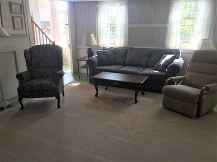 West Dennis Cape Cod vacation rental - Comfortable living room with flat screen TV and DVD