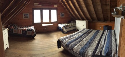 Wellfleet Cape Cod vacation rental - King bedroom with extra twins
