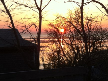 North Eastham Cape Cod vacation rental - Sunset view from the deck