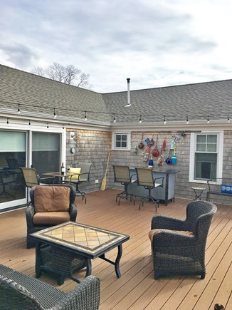 Eastham Cape Cod vacation rental - Large deck