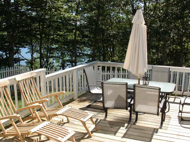 Falmouth Cape Cod vacation rental - Entertain Guests on the Deck Overlooking the Pond!
