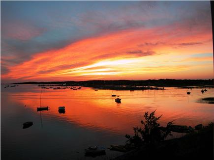 Wellfleet Harbor Cape Cod vacation rental - The Sunsets Over The Harbor Are Spectacular!