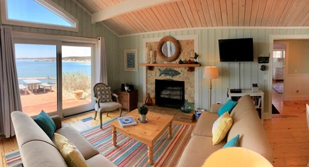 Wellfleet Harbor Cape Cod vacation rental - The Living Room Decoration Reflects The Peaceful Setting