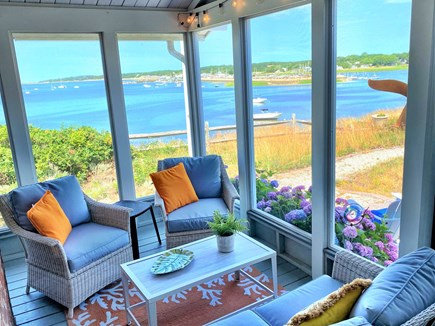 Wellfleet Harbor Cape Cod vacation rental - Harbor View Screen Porch is the perfect spot for relaxing.