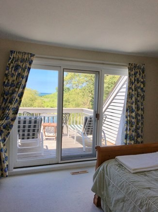 Brewster Cape Cod vacation rental - Bedroom with queen bed with view of the Bay and beach!