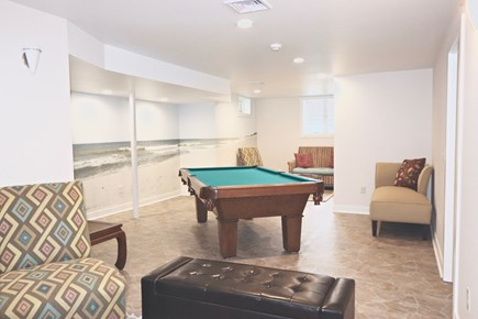 East Orleans Cape Cod vacation rental - Game Room  with Slate Olhausen Pool table & Large Flat Screen TV
