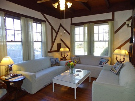 Falmouth Cape Cod vacation rental - Living room with couches and flat screen TV