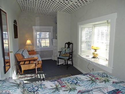 Falmouth Cape Cod vacation rental - Upstairs queen bedroom with water view, sitting area