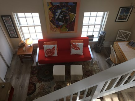 Provincetown Cape Cod vacation rental - Downstairs sitting/dining area (with full size futon)
