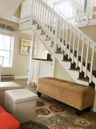 Provincetown Cape Cod vacation rental - Stairway to living room loft