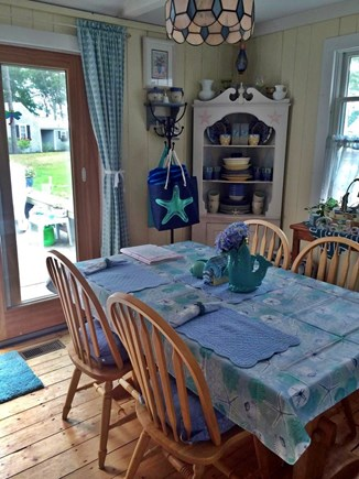 Hyannisport Cape Cod vacation rental - Dining Room with slider to deck.
