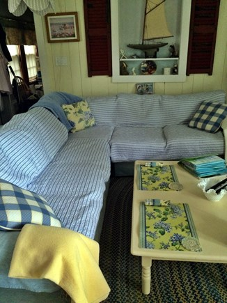 Hyannisport Cape Cod vacation rental - Comfy Living Room Couch.