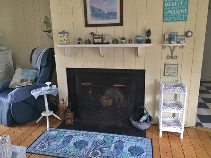 Hyannisport Cape Cod vacation rental - Living Room with Fireplace