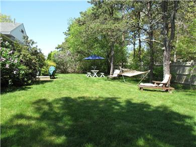 Harwich Port Cape Cod vacation rental - Private back yard for relaxation and barbecues with the gang