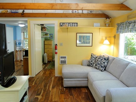Wellfleet Cape Cod vacation rental - Open family room area with access to bath, bedrooms, kitchen