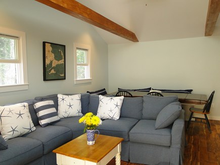 Wellfleet Cape Cod vacation rental - Living area opens to large dining room table