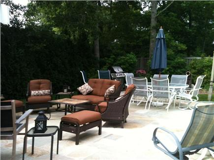 New Seabury/Popponesset New Seabury vacation rental - 18' x24'stone Patio, Gas Grill, Dining, & Cushioned Wicker sets