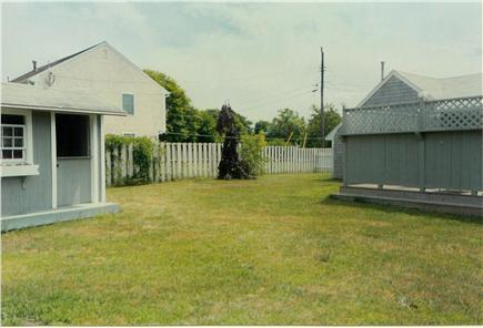 Hyannis Cape Cod vacation rental - East side of back yard