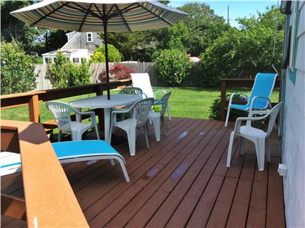 West Harwich Cape Cod vacation rental - Large Deck off Kitchen with Outside Sun Shower