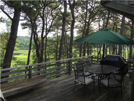 Truro Cape Cod vacation rental - Relaxing deck with views or marsh and pond