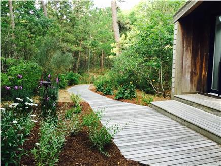 Truro Cape Cod vacation rental - Landscaped entrance to house