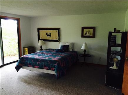 Truro Cape Cod vacation rental - Large downstairs bedroom  (#2) with door to outdoor walkway