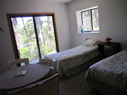 Truro Cape Cod vacation rental - Bedroom #3Opens to walkway and view of woods and pond