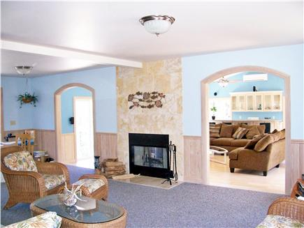 North Truro Cape Cod vacation rental - Looking into great room from family room