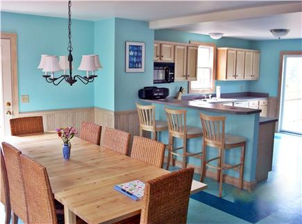 North Truro Cape Cod vacation rental - Dining room looking into the Kitchen