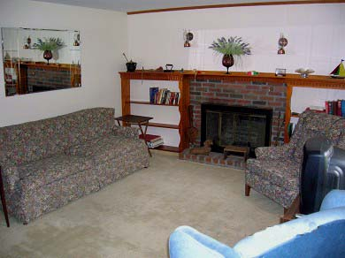 Dennis Cape Cod vacation rental - Fireplaced Living Room