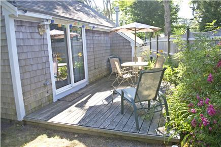 South Yarmouth Cape Cod vacation rental - Rear Deck