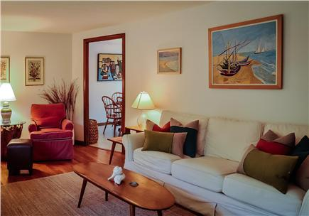 Great Island, West Yarmouth Cape Cod vacation rental - Living Room with view into Dining Room