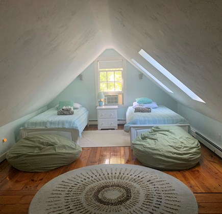 South Dennis Cape Cod vacation rental - Upstairs twin bedroom with Roku great for the kids