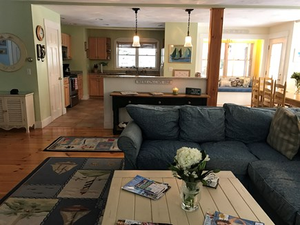 East Orleans Cape Cod vacation rental - Comfortable and Open Family Room looking into Kitchen