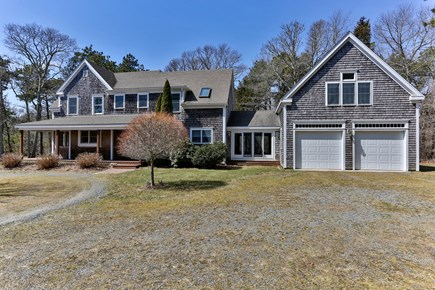 East Orleans Cape Cod vacation rental - Front view with garage and studio